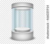 empty glass shop cylinder... | Shutterstock .eps vector #466035914