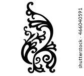 vector calligraphic element.... | Shutterstock .eps vector #466040591