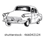 car sketch | Shutterstock .eps vector #466042124