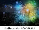 smart city and wireless... | Shutterstock . vector #466047575