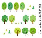 summer trees elements | Shutterstock .eps vector #466049231