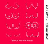 types of women's breasts. shape ... | Shutterstock .eps vector #466054145