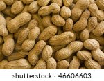 Background of raw peanuts in shell. - stock photo