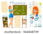 physics teacher. infographic ... | Shutterstock .eps vector #466068749