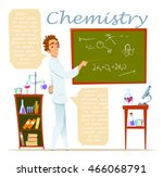 chemistry teacher. infographic  ... | Shutterstock .eps vector #466068791
