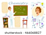 chemistry teacher. infographic  ... | Shutterstock .eps vector #466068827