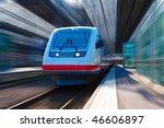 modern high speed train | Shutterstock . vector #46606897