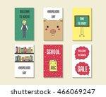 cute doodle back to school...   Shutterstock .eps vector #466069247