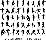 modern style dancers vector... | Shutterstock .eps vector #466073315