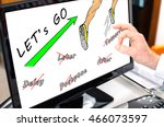 action concept shown on a... | Shutterstock . vector #466073597