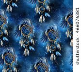 Seamless Watercolor Eagle Dream ...