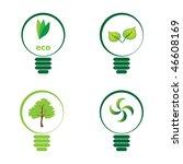 renewable green energy  4 light ... | Shutterstock .eps vector #46608169