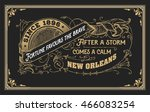 Old label with floral details. Elements by layers.