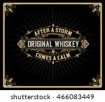 whiskey label with old frames | Shutterstock .eps vector #466083449