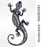 Ornate Gecko Lizard In In...