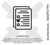 web line icon. checklist   Shutterstock .eps vector #466092794