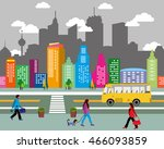 city life  info graphic set of... | Shutterstock .eps vector #466093859