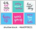 lettering vector postcard... | Shutterstock .eps vector #466095821