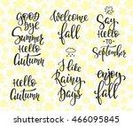 season life style inspiration... | Shutterstock .eps vector #466095845