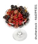 fresh garden berries in a vase... | Shutterstock . vector #466099301