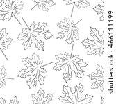 maple leaves seamless... | Shutterstock .eps vector #466111199