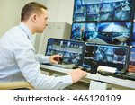 video monitoring surveillance... | Shutterstock . vector #466120109