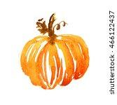 watercolor pumpkin illustration.... | Shutterstock . vector #466122437