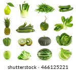 only green fruits and... | Shutterstock . vector #466125221