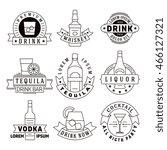 alcohol drinks vector emblems ... | Shutterstock .eps vector #466127321