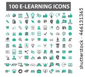 learning icons | Shutterstock .eps vector #466131365