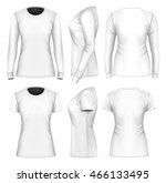 women's t shirts long and short ... | Shutterstock .eps vector #466133495