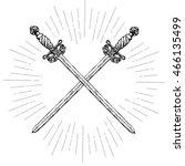vintage crossed long swords....