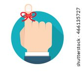 reminder string icon   Shutterstock .eps vector #466135727