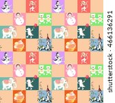 patchwork for children. vector... | Shutterstock .eps vector #466136291