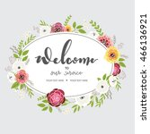 welcome to our service text... | Shutterstock .eps vector #466136921