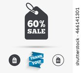 60  sale price tag sign icon.... | Shutterstock .eps vector #466141301