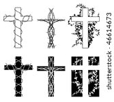 crosses and thorns   raster | Shutterstock . vector #46614673