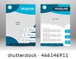 vector flyer template design.... | Shutterstock .eps vector #466146911