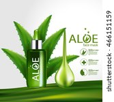 aloe vera collagen serum and... | Shutterstock .eps vector #466151159