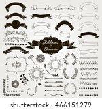 set of hand drawn black doodle... | Shutterstock .eps vector #466151279