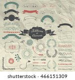 set of hand drawn doodle... | Shutterstock .eps vector #466151309
