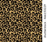 Stock vector vector seamless pattern with leopard fur texture repeating leopard fur background for textile 466153229