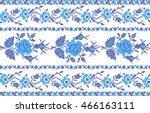 the vector embroidered flowers  | Shutterstock .eps vector #466163111