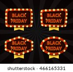 set of banners with glowing... | Shutterstock .eps vector #466165331