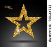 golden star vector banner. gold ... | Shutterstock .eps vector #466166915