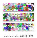 set of horizontal banners of... | Shutterstock .eps vector #466171721