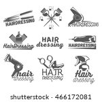 vector set of hair salon vector ... | Shutterstock .eps vector #466172081