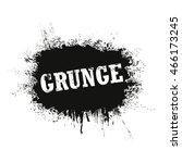 grunge splash banner. vector... | Shutterstock .eps vector #466173245