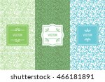 vector set of design elements ... | Shutterstock .eps vector #466181891