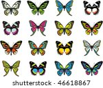 collection of beautiful... | Shutterstock .eps vector #46618867